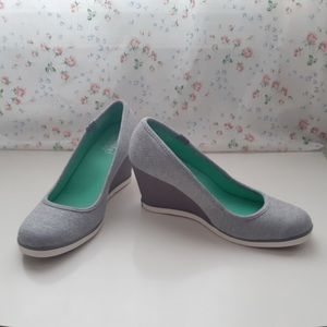 Keds Jersey Charcoal Wedges